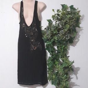 LOVE STITCH Black Mini Dress